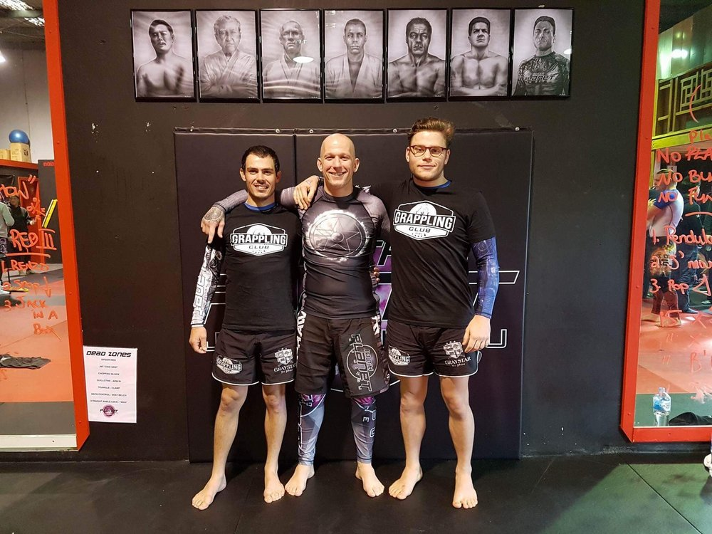 Jack and Devon with 10th Planet Purple belt and friend Shane Phillips