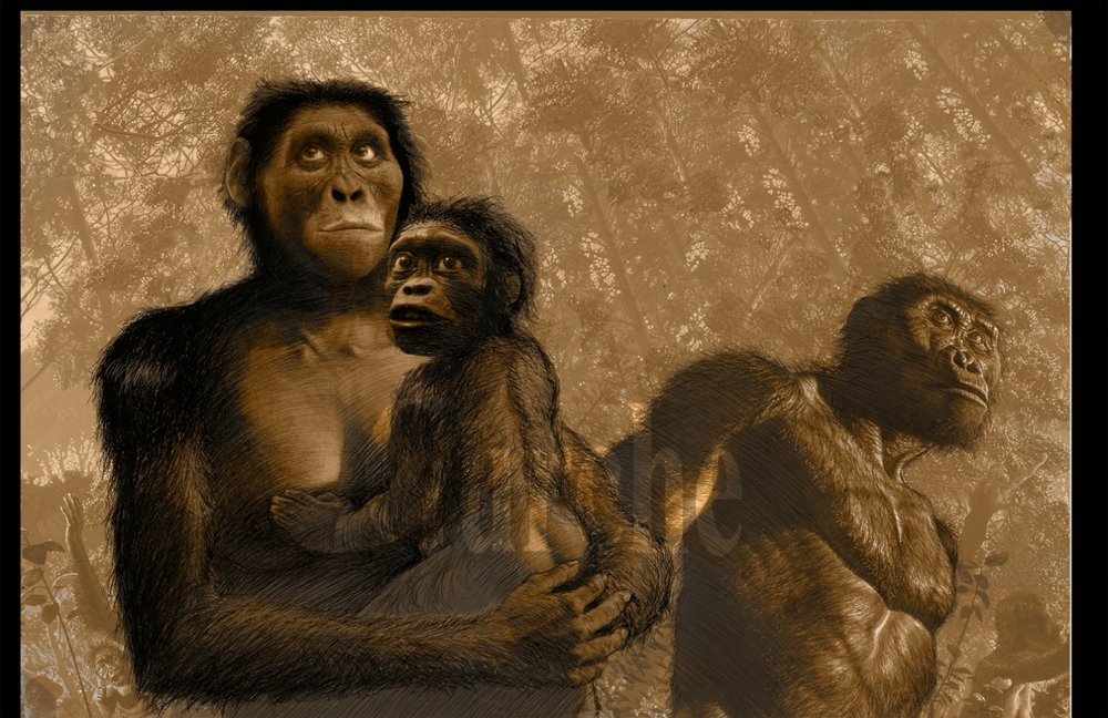 Image 777 A afarensis adult male and female with child.jpg