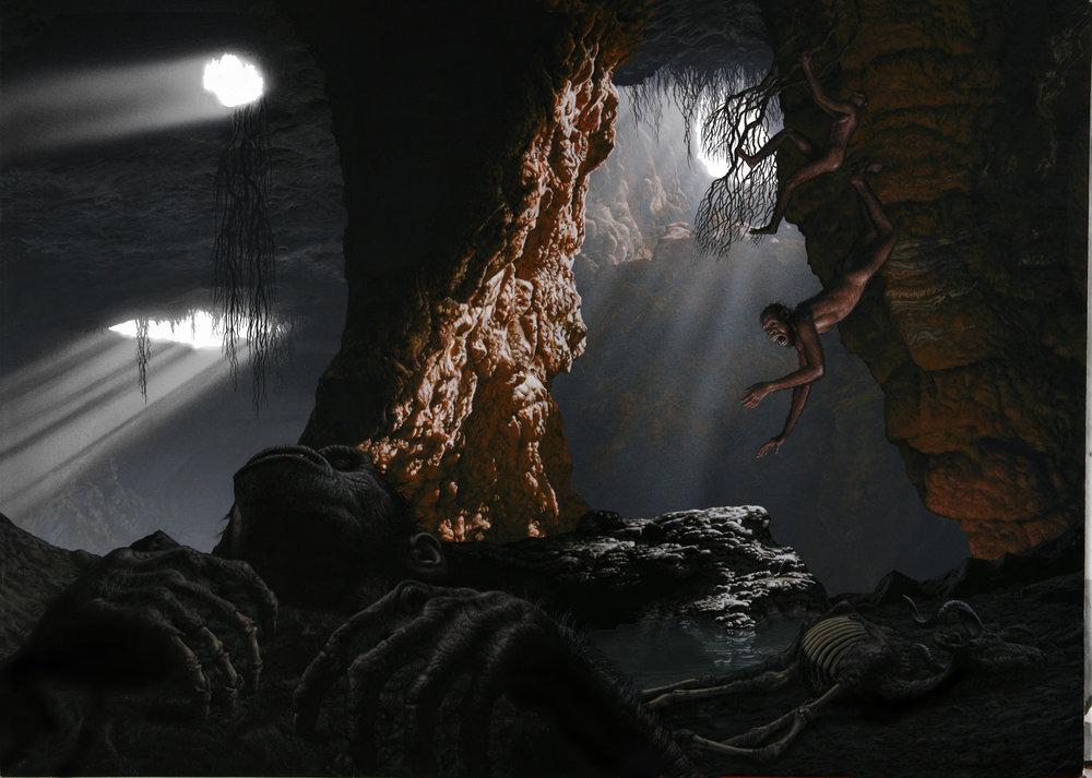 Death scene at Malapa;  Australopithecus sediba .
