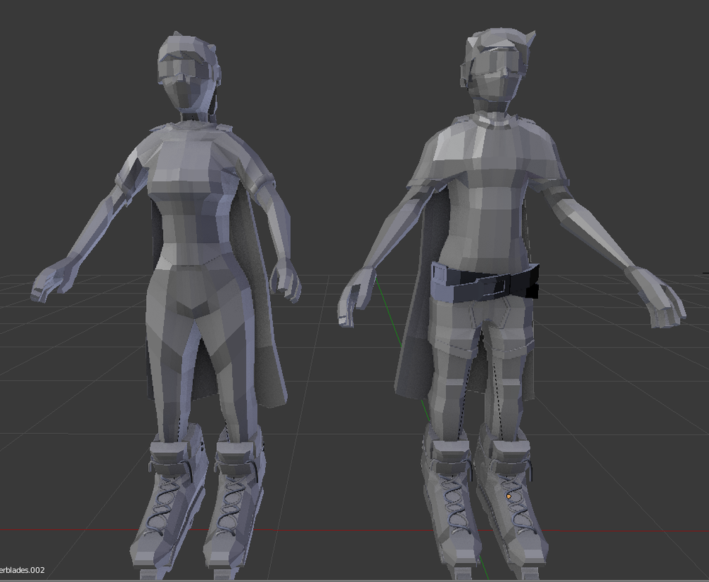 A little peak at the models without the texture.