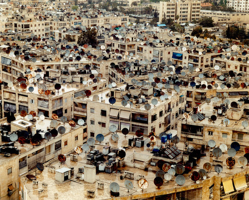 satellite dishes, Aleppo, Syria 2007.jpg