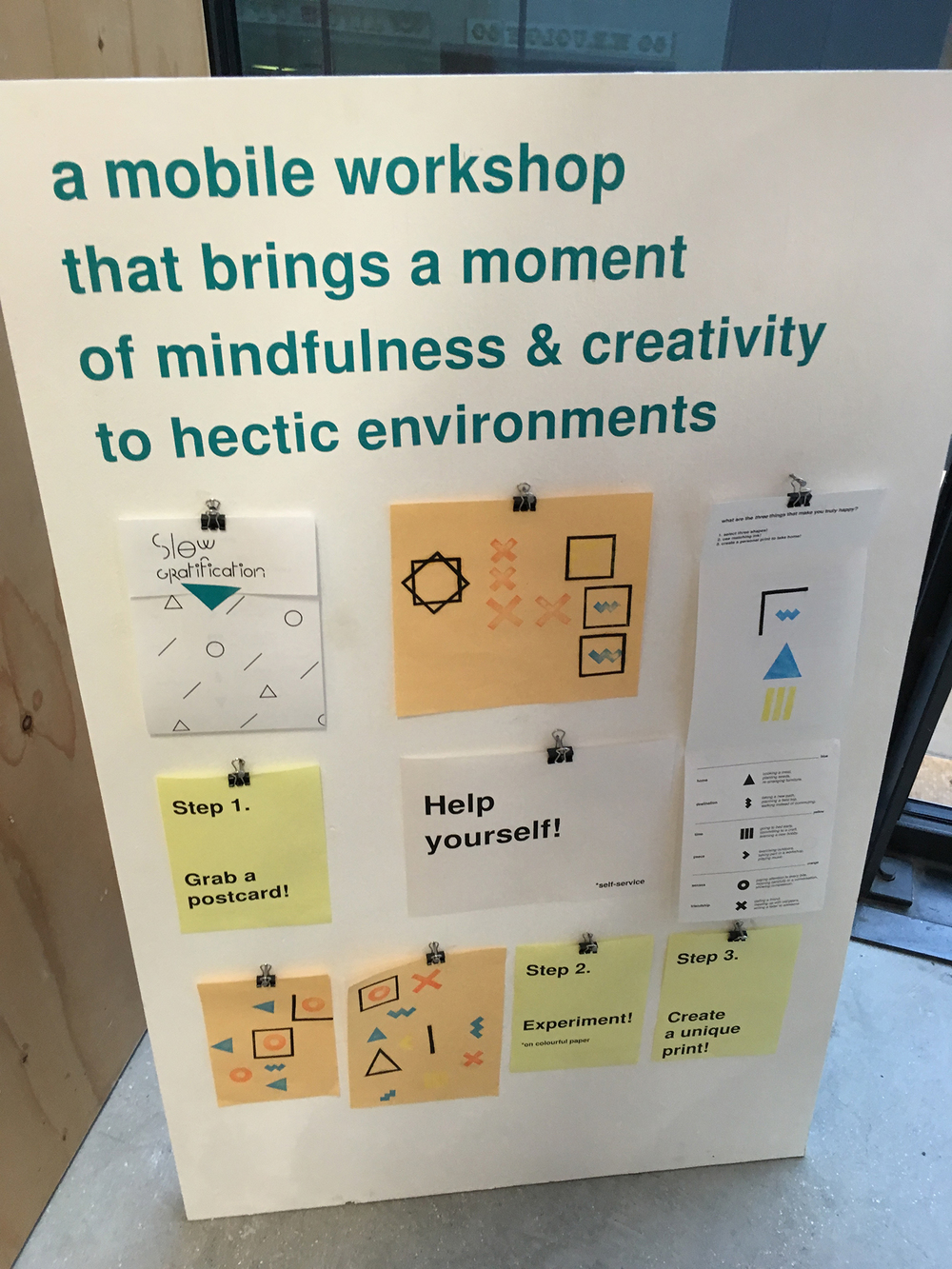 Phillipine Sohet 's clever mobile workshop idea invites mindfulness in a unique way.