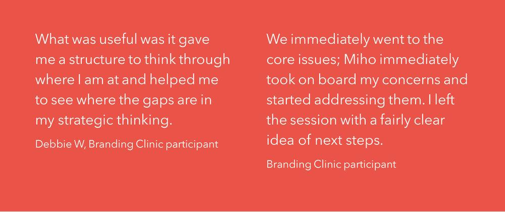 Branding Clinic quote