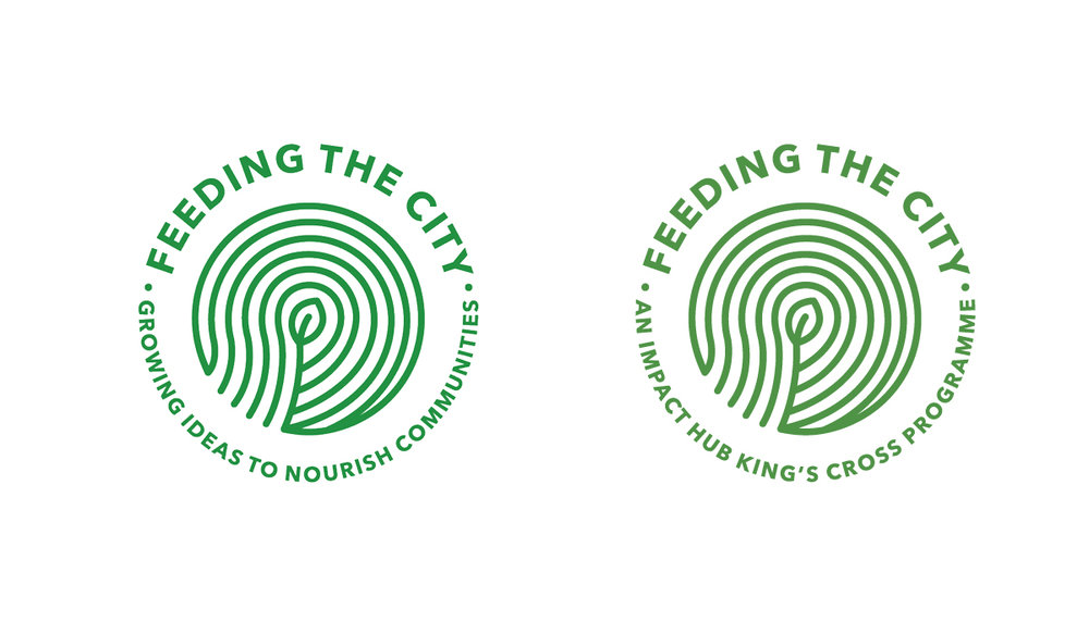IHKX Feeding the City logo variations