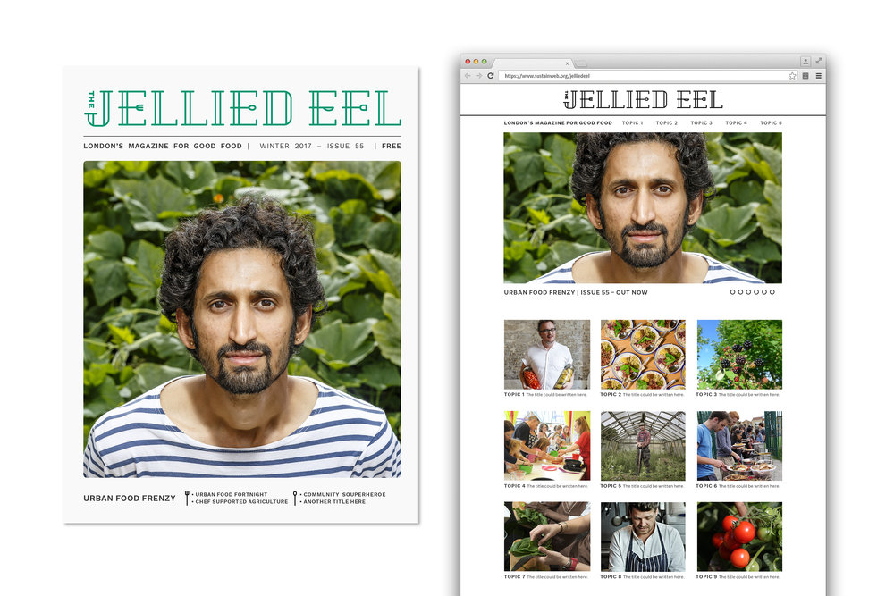The Jellied Eel magazine cover and website design