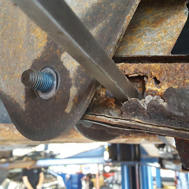 This control arm was nearly rusted in half. #rustneversleeps