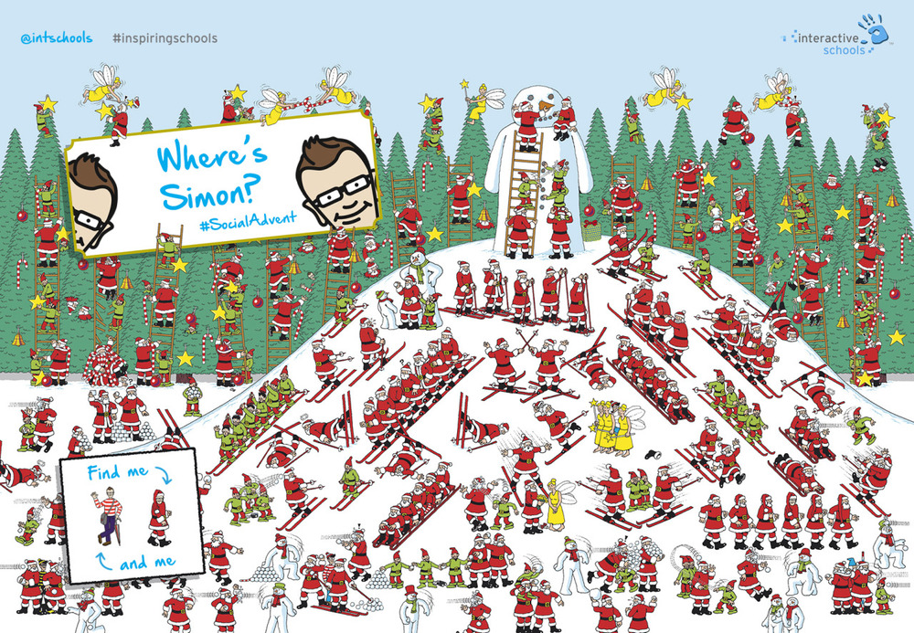 Where's Simon? My creative 'pixies' have taken a classic game, and made it more topical. A great way to celebrate the success of #SocialAdvent in 2014. We will be running a few more of these throughout the remaining Spring and Summer Terms. Watch out. There might be prizes up for grabs.