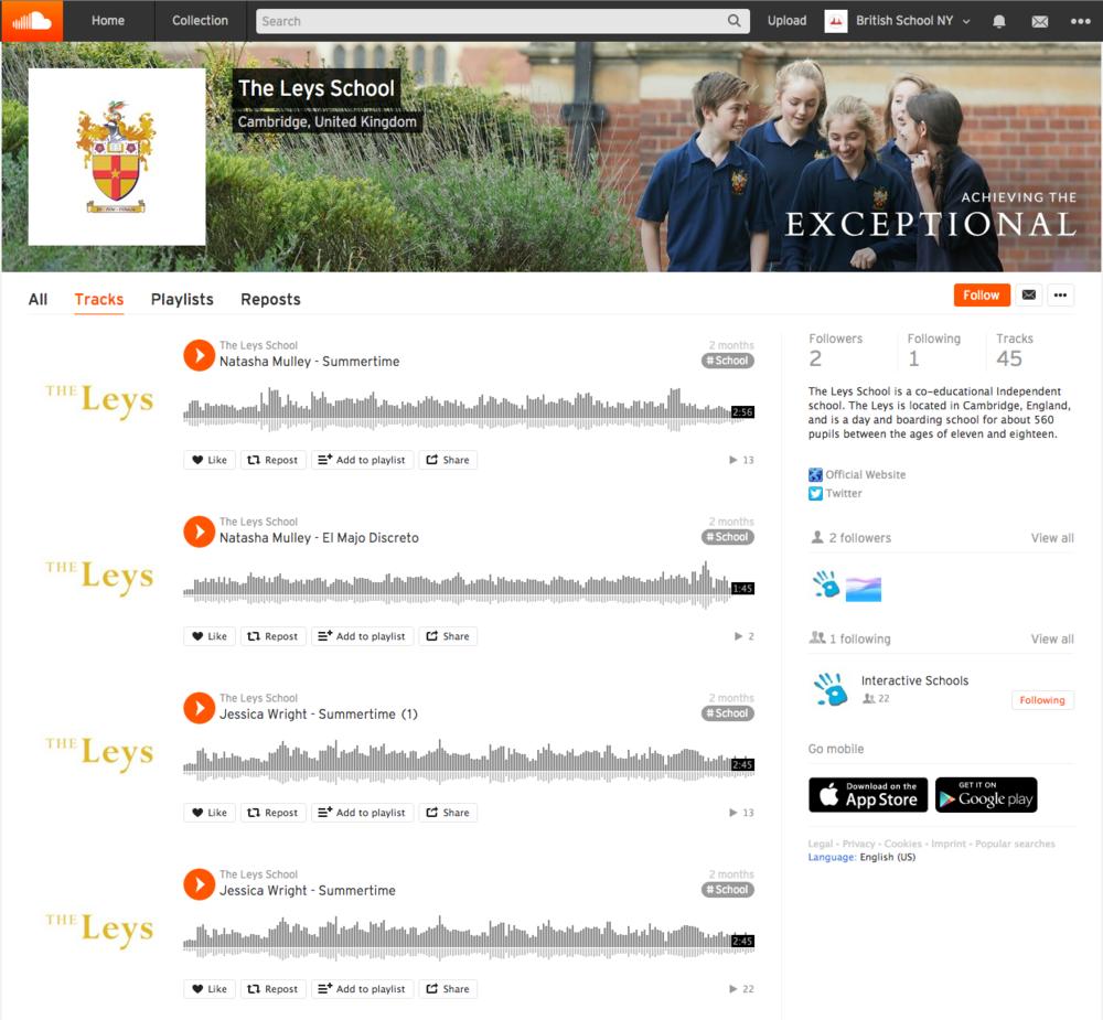 The Leys School Cambridge SoundCloud account.