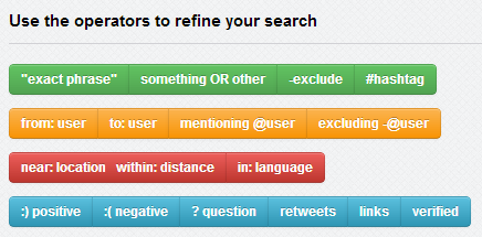 Google search operators (or parameters) are characters / terms used on Google to help refine / focus the search