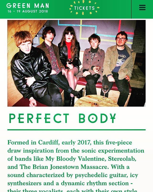 Thrilled to see Forte Project act, @perfectbodyband on the @greenmanfest lineup this year. Check them out at the Rising stage this Friday. ✊️😎 #greenman #greenmanfestival2018 #forteproject #greenmanrising #perfectbodyband