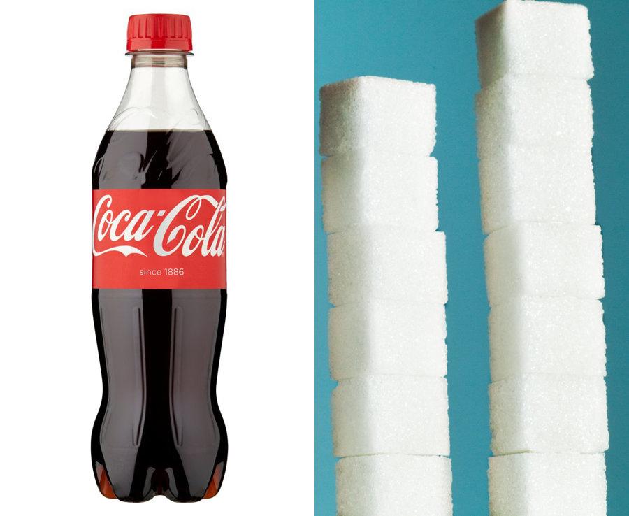 500ml of Coka-Cola has over 13 teaspoons of sugar