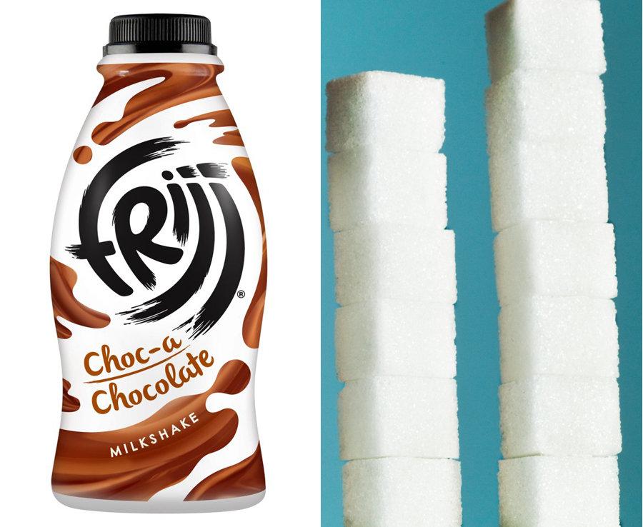 471ml of Fruji Chocolate Milk has 13 teaspoons of sugar