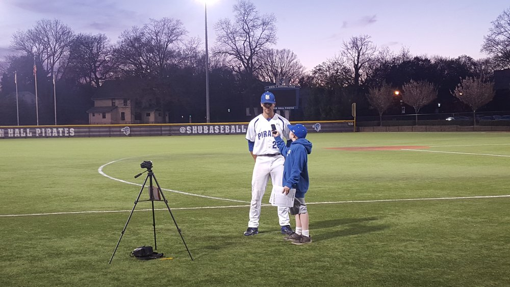 Interviewing Seton Hall Third Baseman Joe Podeslenko