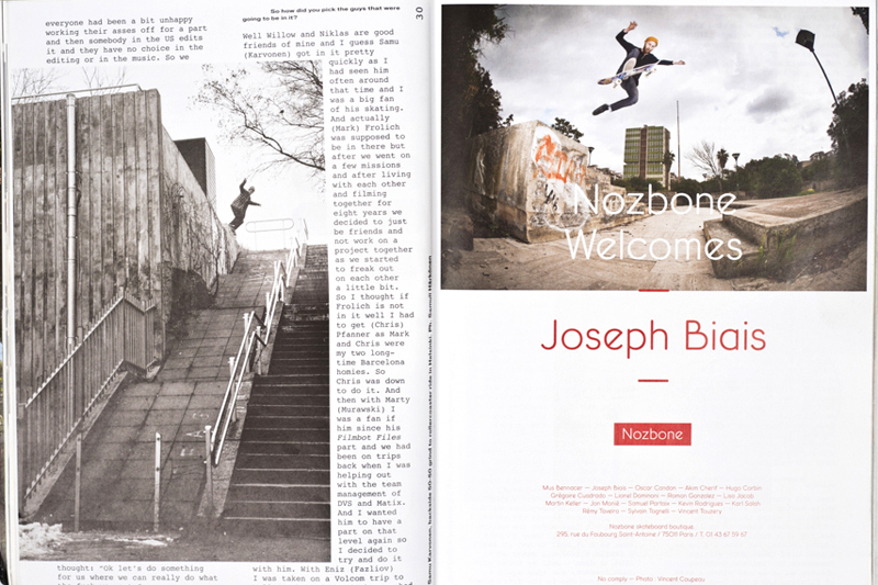 Nozbone advertising with Joseph Biais / Free 01
