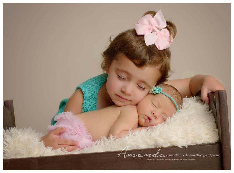 Sisters chesapeake newborn photographer