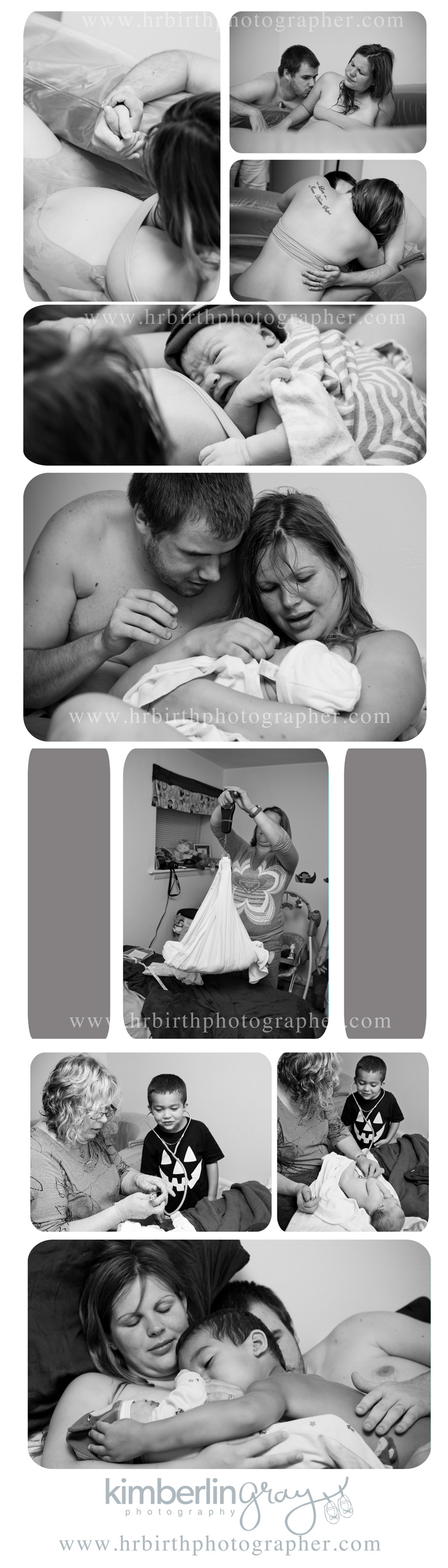 birth photography, home birth collage