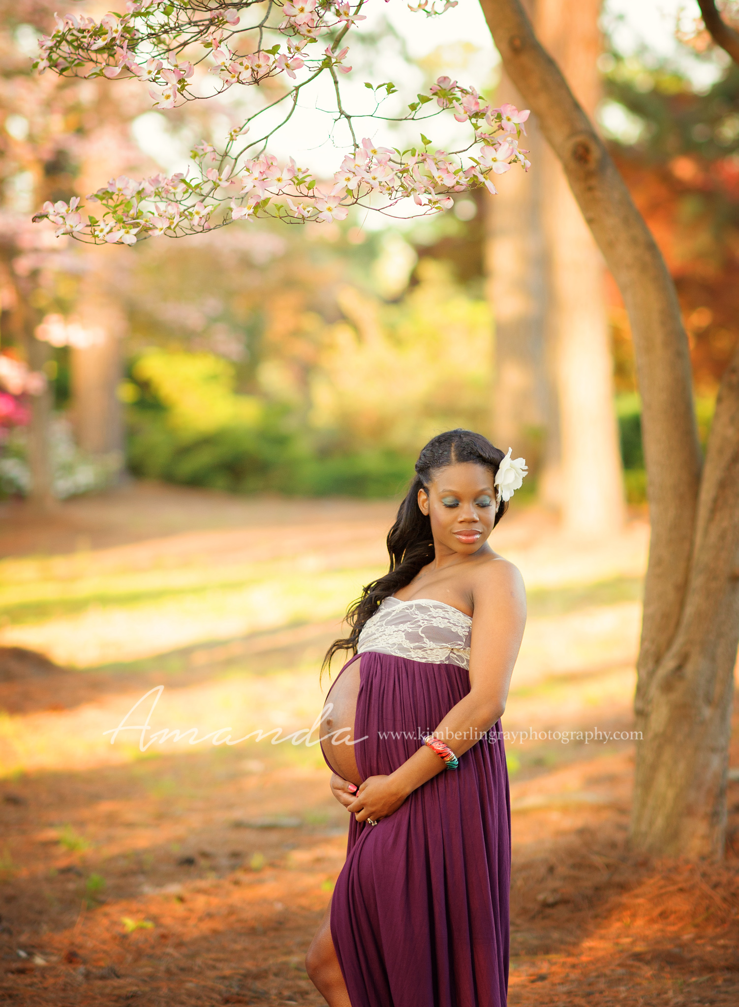 spring maternity gown portraits