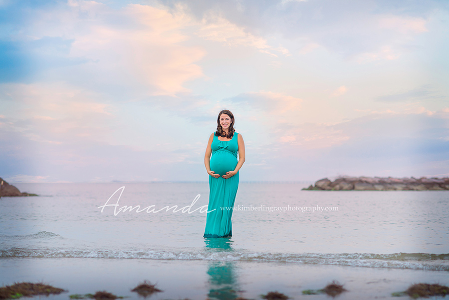 virginia beach sunset maternity portrait
