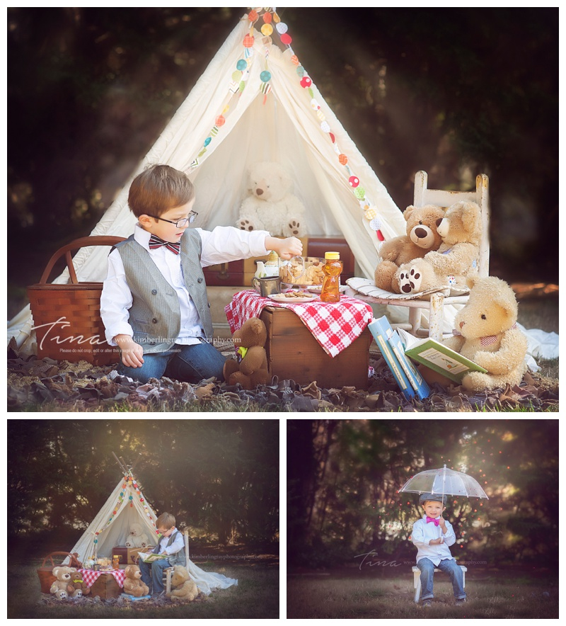 teddy bear picnic portraits