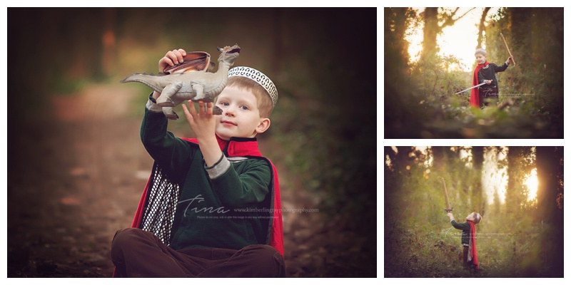 artistic forest child session