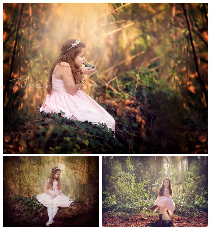 princess in the forest childhood minisession
