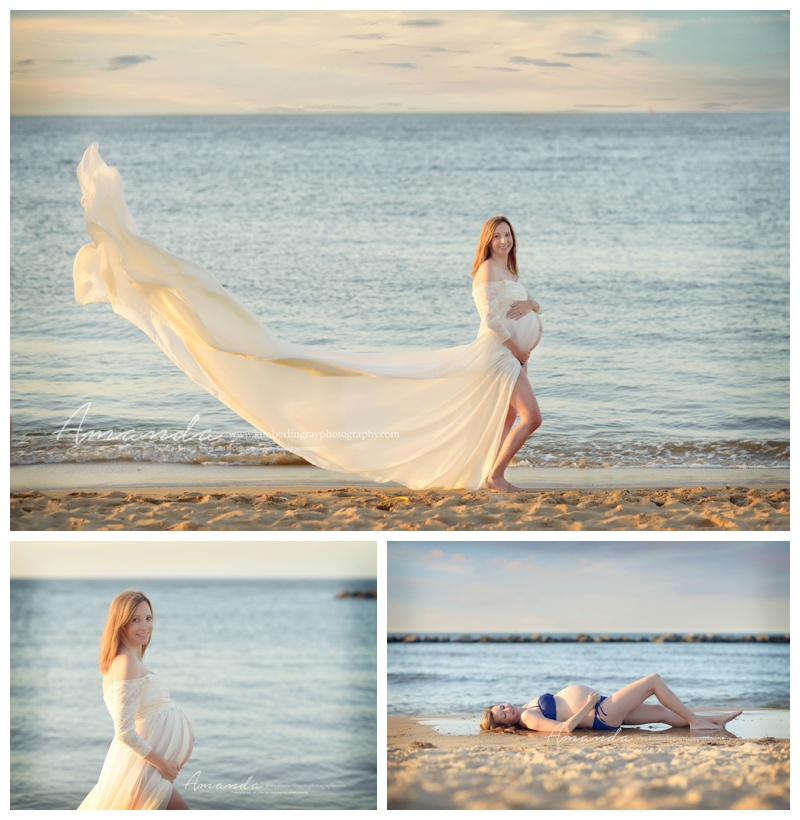 Beach maternity norfolk maternity photographer