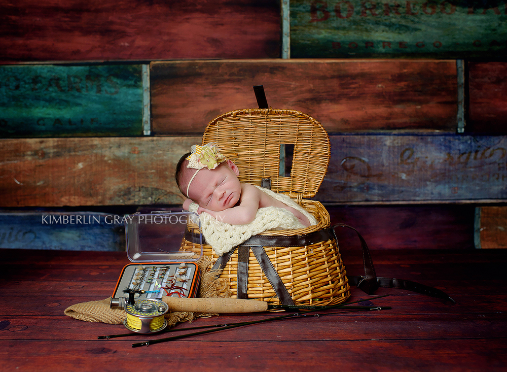 Newborn Gone Fishing Norfolk Newborn photographer