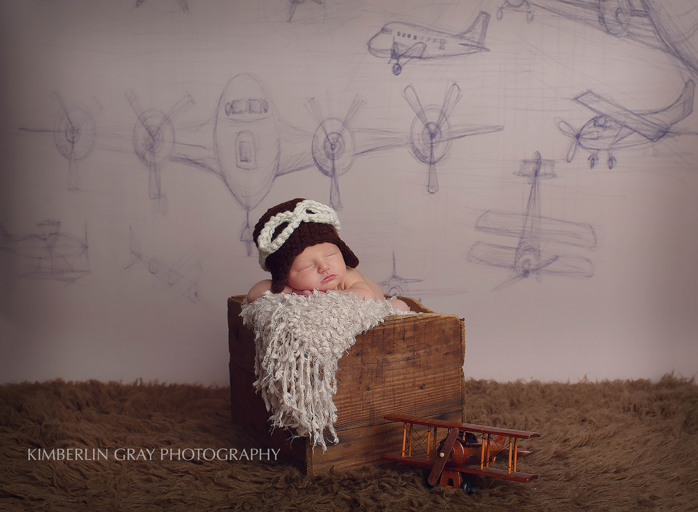 Newborn Pilot Photoshoot Virginia Beach Virginia