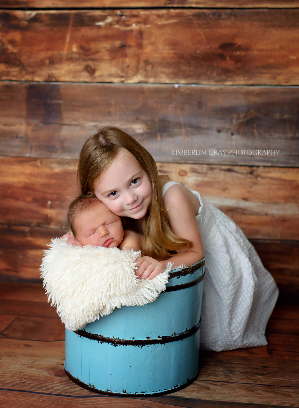 Newborn and Big Sister Virginia Beach Newborn Photographer