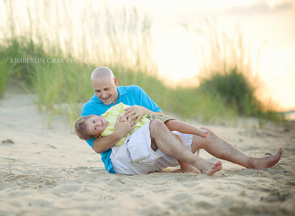 Dad and son virginia beach photoshoot