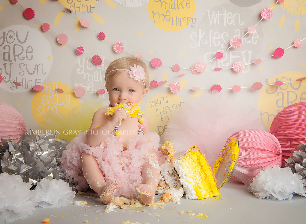 custom cake smash 1 year old session