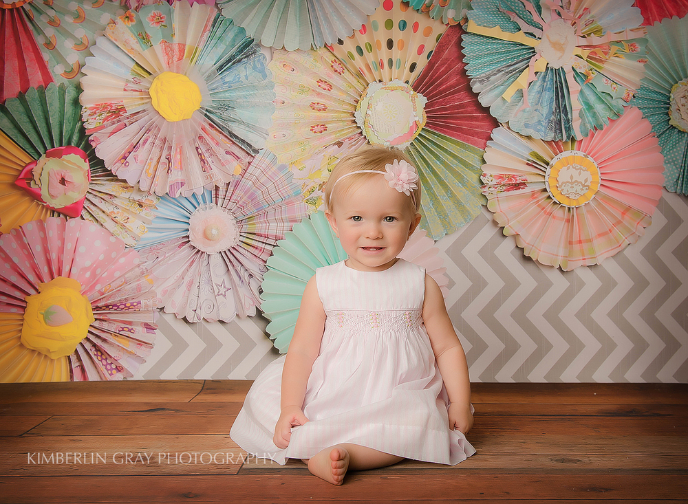 one year old studio photo shoot