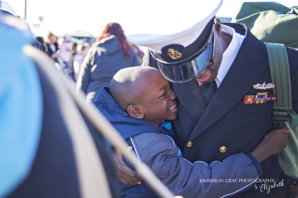 Crying Son at Navy Homecoming