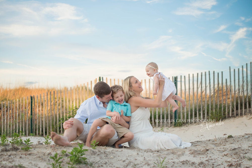 Virginia Beach Family on the Beach Photo