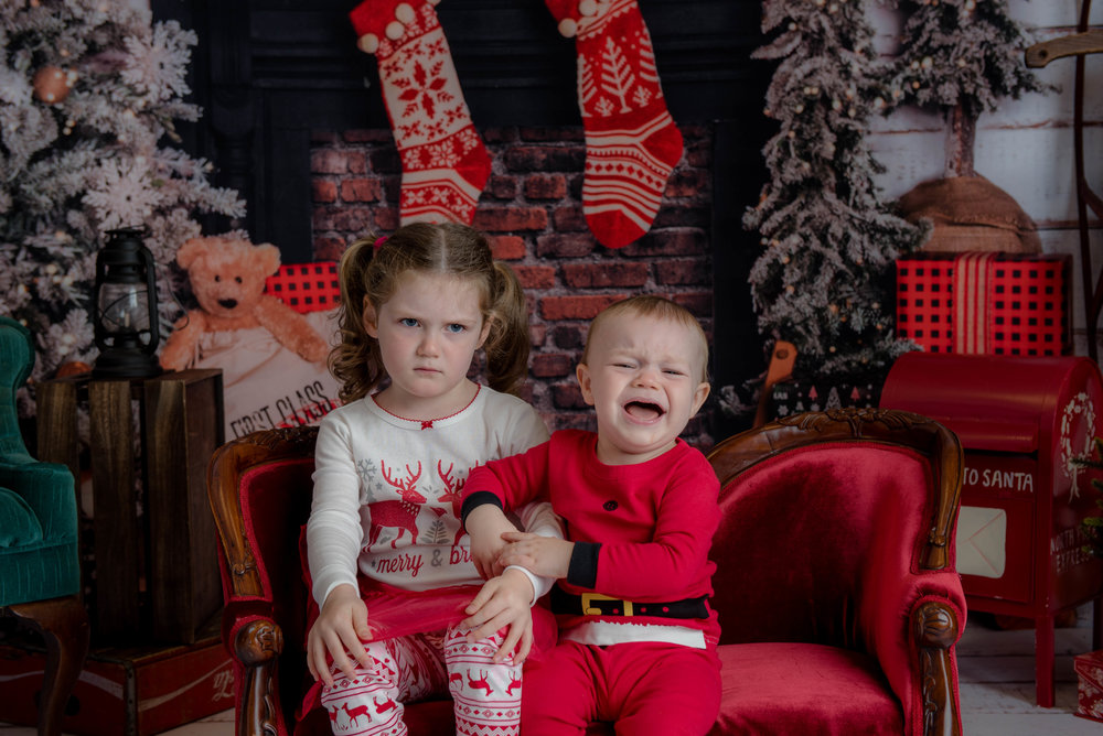 Merry @#% Christmas! - This is my favorite shot of my niece & nephew, honestly!  I think it would make the most hilarious and truthful Christmas Card, too!  :)  But I promise to try to get YOUR kids smiling for the camera, as usual. LOL! See you soon!  -Amanda