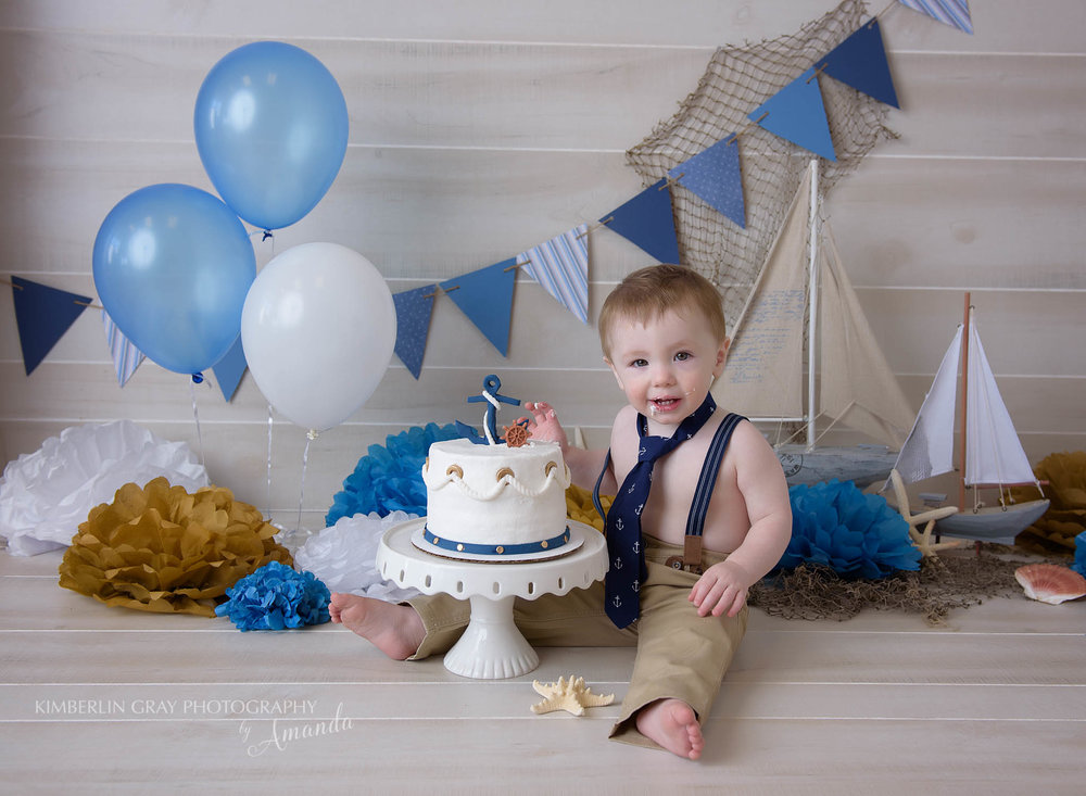 Nautical Sailboat Cake Smash