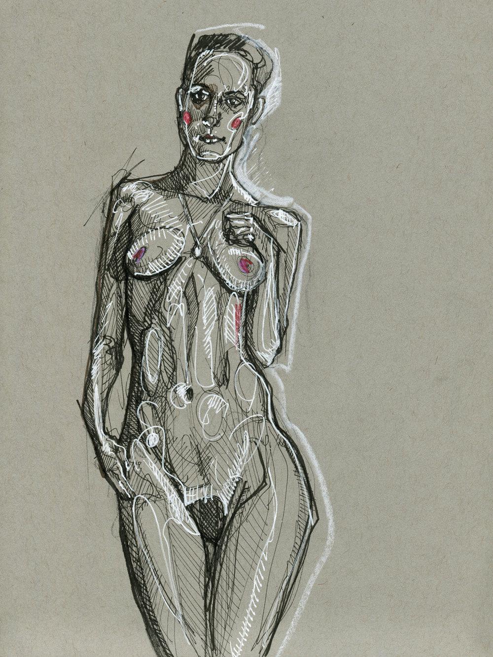Gray Figure Study #2