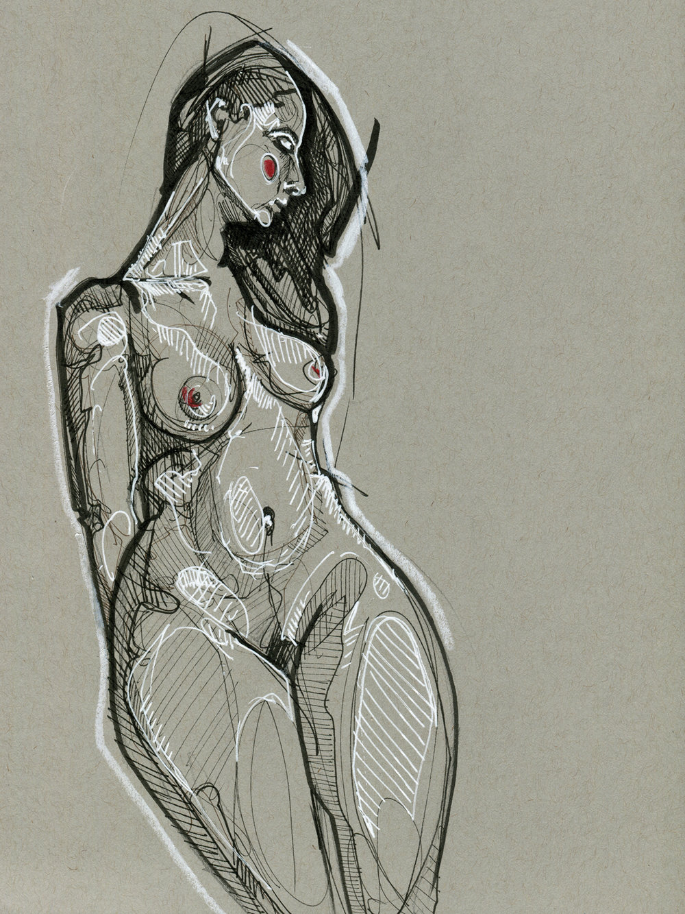 Gray Figure Study #4