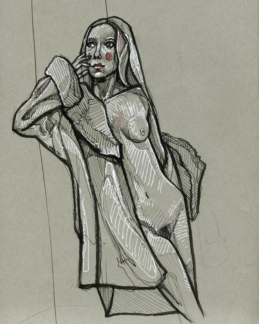 Gray Figure Study #5