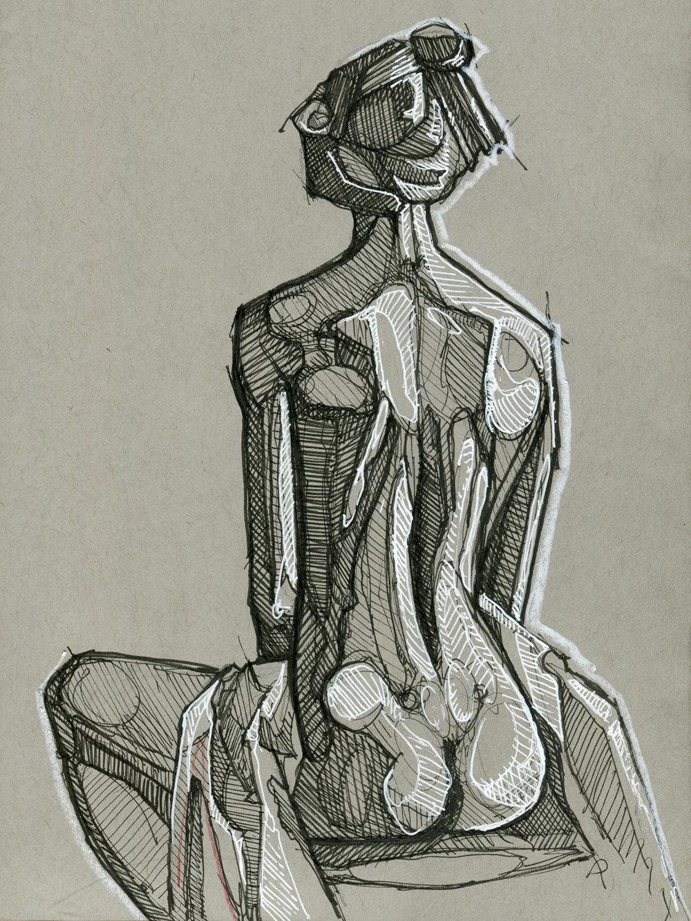 Gray Figure Study #6