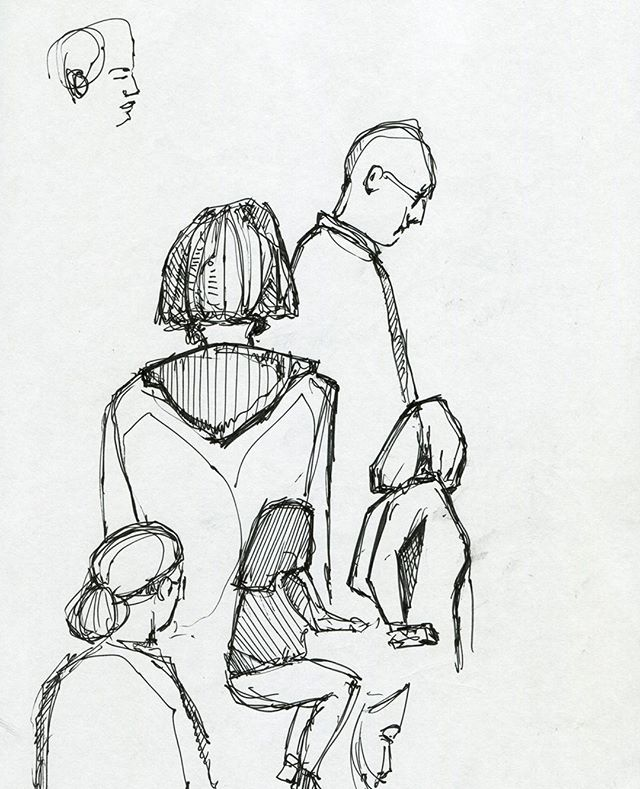 Random Waiting People, Pen Sketches - Art in places. Hoping for a free weekend coming soon to explode with new work! Lots of digital coming soon as it seems to be the best way to create color while on the road! If you're in Atlanta - DM me to collaborate!⁣ .⁣ .⁣ .⁣ .⁣ .⁣ #sketchbook #sketches #art #drawing #pencil #fineart #figuredrawing #artist #atlanta #atl #creative #draw #model #instaart #instaartist #artoftheday #gallery #inspiration #artgram #creativityfound⁣ #carveouttimeforart #createveryday #createcultivate #laartist #artsanity #abstractartist #creativehappylife #handsandhustle #passion #doitfortheprocess