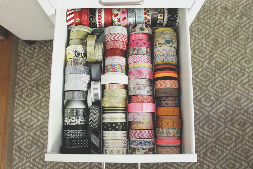 DIY Washi Storage | Rourke Planners