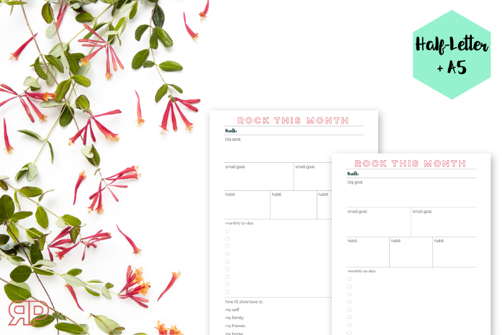 Monthly Goal Planner Freebie | Rourke Planners