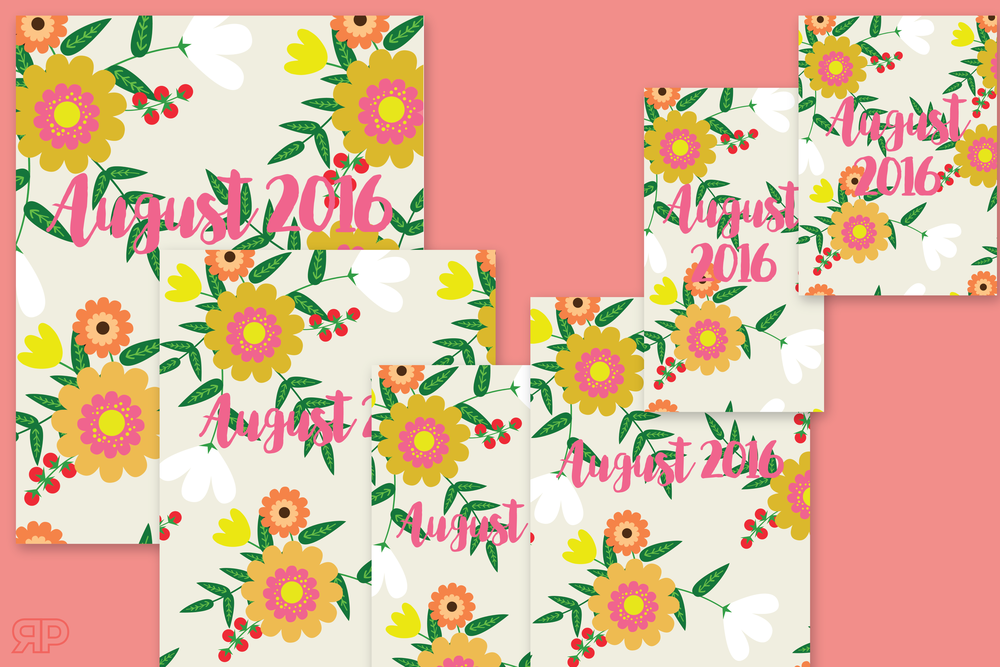 August 2016 Cover Freebie | Rourke Planners