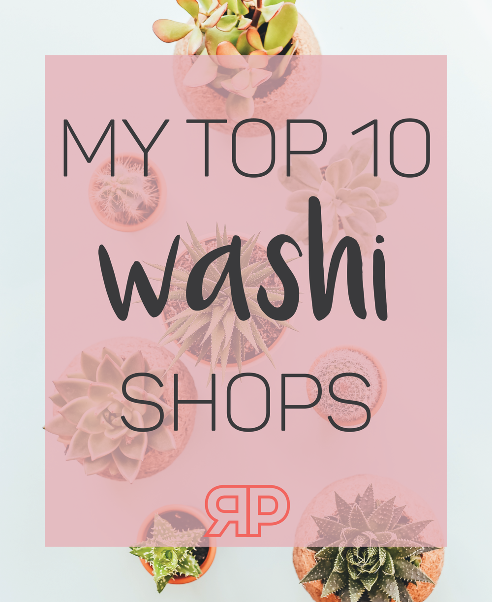 My Top 10 Washi Shops | Rourke Planners