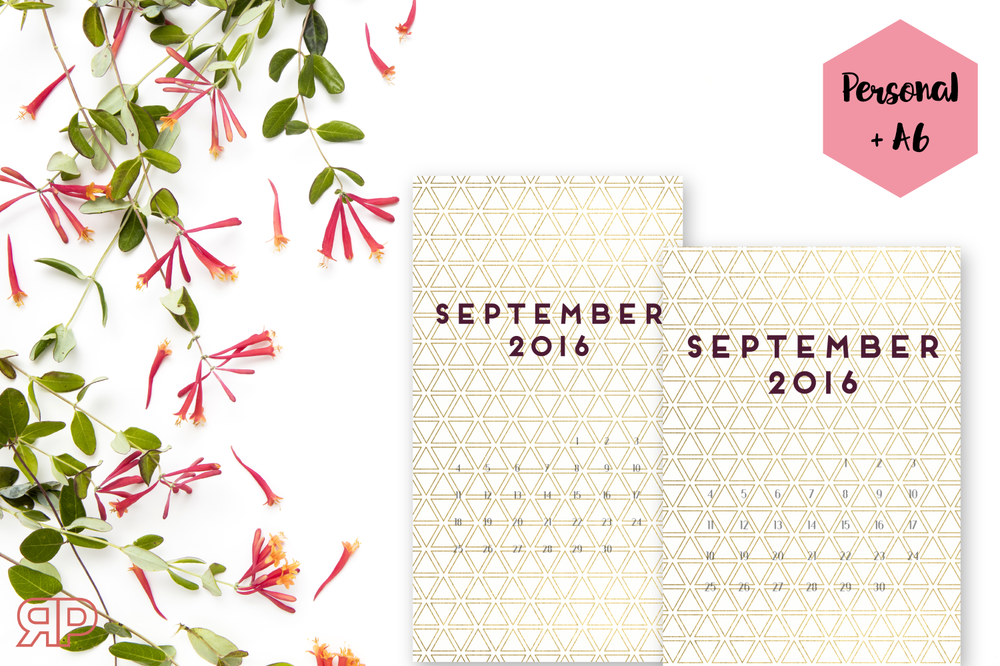 September 2016 Calendar Cover Freebie | Rourke Planners