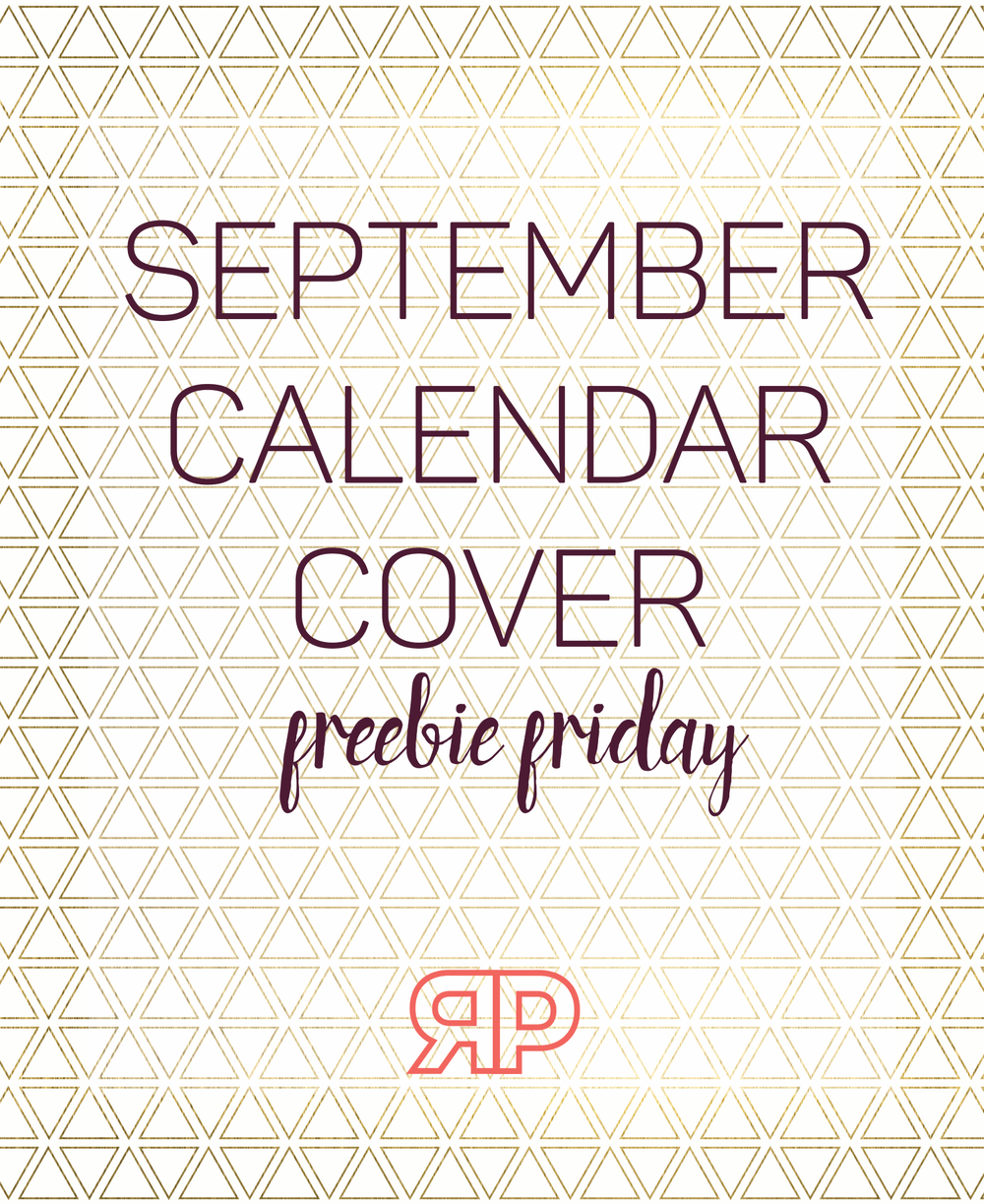 September 2016 Calendar Cover | Rourke Planners