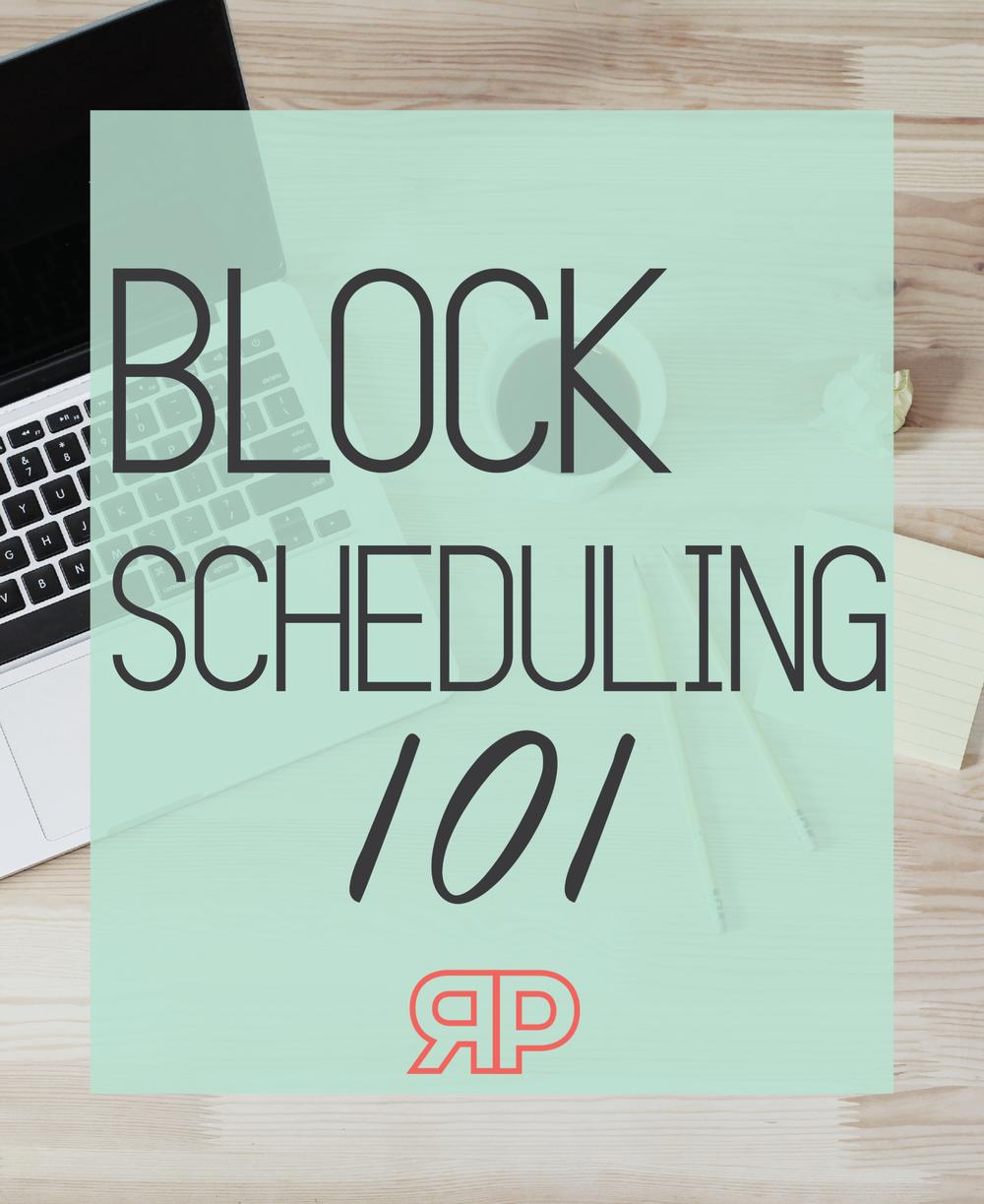 Block Scheduling 101 | Rourke Planners