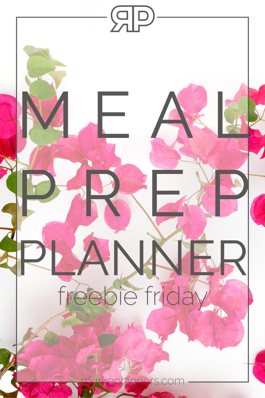 Meal Prep Planner | Rourke Planners
