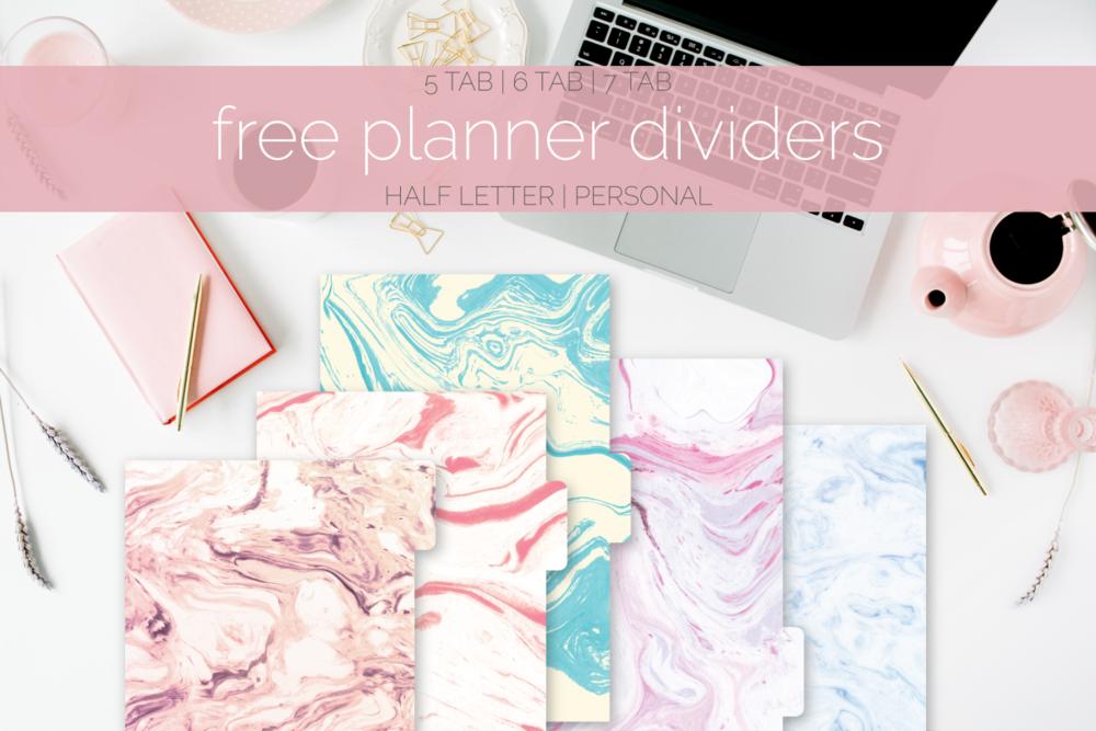 Dividers Freebie | Rourke Planners
